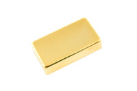 PC-0307-002 Humbucking Pickup Covers No Holes Gold