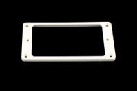 PC-0743-025 Humbucking Pickup Rings Flat Slanted White