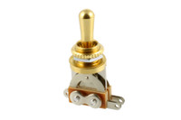 EP-0066-002 Gold Short Straight Toggle Switch
