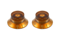 PK-0140-022 Vintage Style Amber Bell Knobs
