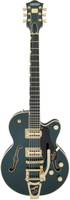 G6659TG Players Edition Broadkaster® Jr. Center Block Single-Cut with String-Thru Bigsby® and Gold Hardware, USA Full'Tron™ Pickups, Cadillac Green
