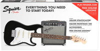 Fender Squier Starter Strat Pack w/ Guitar & Amplifier - Black