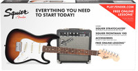Fender Squier Starter Strat Pack w/ Guitar & Amplifier - Sunburst