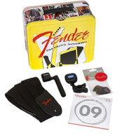 Fender™ Lunchbox Packed w/Necessities Strings Tuners & Picks