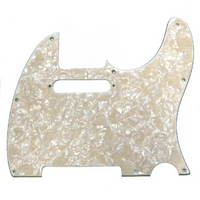 8-Hole Mount Multi-Ply Telecaster® Pickguard - Aged White