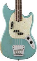 Fender Justin Meldal-Johnsen Mustang Bass - Faded Daphne Blue
