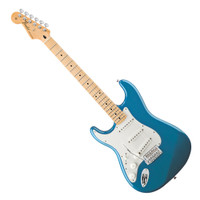 Fender Left-Handed Standard Stratocaster Electric Guitar - Maple Fingerboard - Lake Placid Blue Finish