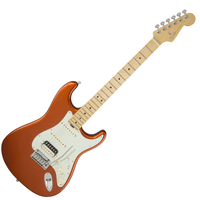 Fender American Elite Stratocaster HSS Shawbucker Maple Fingerboard W/Case - Autumn Blaze Metallic