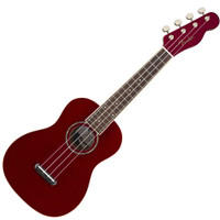 Fender Zuma Concert Ukulele - Candy Apple Red