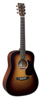 Martin D Jr. E Burst Acoustic Electric Guitar - Sunburst