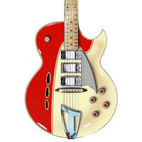 Eastwood Backlund Rockerbox Semi-Hollow Guitar Red and Creme