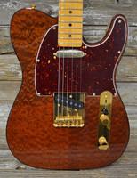 Fender Rarities USA Telecaster Pommele Sapele Top - Natural