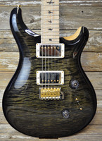 PRS Custom 24 10-Top - Custom Charcoal Burst with one-piece top