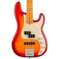 Fender American Ultra Precision Bass Maple Neck Plasma Red with Case