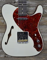 Fender Custom Shop Limited Edition Artisan Thinline Tele - Aged Olympic White