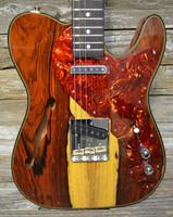 Fender Custom Shop Artisan Thinline Telecaster - Natural Cocobolo