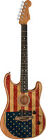 Fender Limited Edition American Acoustasonic Stratocaster, American Flag