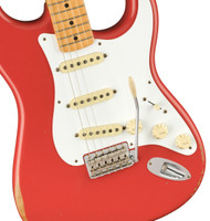 Fender Vintera Road Worn 50s Stratocaster, Maple Fingerboard, Fiesta Red