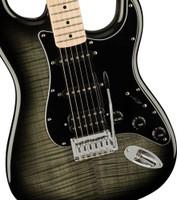 Squier Affinity Series Stratocaster FMT HSS Electric Guitar, Maple Fingerboard, Black Burst
