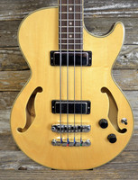 Ibanez AGB-200-NT Short Scale Hollow Body Bass W/Cs