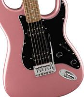 Squier Affinity Series Stratocaster HH Electric Guitar, Laurel Fingerboard, Burgundy Mist