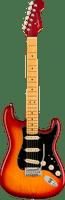 Fender American Ultra Luxe Stratocaster - Plasma Red Burst