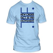 New Order Movement Debut Album Cover Artwork Men's Light Blue T-shirt