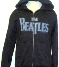 The Beatles Logo Hoodie Hooded Gray Sweatshirt