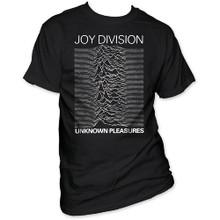 Joy Division Unknown Pleasures Debut Album Cover Artwork Men's Black Vintage T-shirt