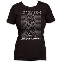 Joy Division Unknown Pleasures Debut Album Cover Artwork Women's Black Vintage T-shirt