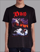 Dio Holy Diver Album Cover Artwork Men's Black T-shirt