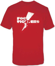 Foo Fighters Lightning Bolt Logo Men's Red Vintage T-shirt
