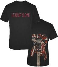 Van Halen Eruption Song Title Eddie Van Halen's Red, Black and White Frankenstrat Spider Web Guitar Men's Black T-shirt