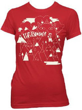 Maroon 5 Mountains with Faces Logo Women's Red T-shirt