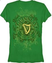 Guiness Beer Logo Women's Green Graphic T-shirt