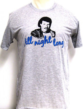 Lionel Richie All Night Long Song Title Men's Gray T-shirt