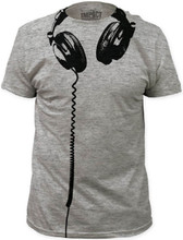 Headphones Hanging Men's Gray T-shirt