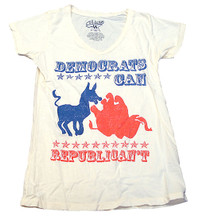 Democrats Can Republican't Women's White Vintage V-Neck T-shirt by Chaser