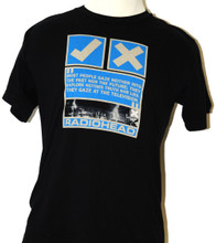 Radiohead Check and X Marks with Quotes Men's Black T-shirt - Front