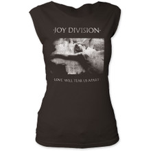 Joy Division Love Will Tear Us Apart Album Cover Artwork Women's Black Sleeveless Vintage T-shirt
