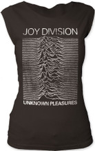 Joy Division Unknown Pleasures Album Cover Artwork Women's Black Vintage Sleeveless T-shirt