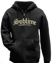 Sublime Long Beach, CA Logo Black Hoodie Sweatshirt