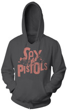 Sex Pistols Logo with Band Members Performing Black Hoodie Sweatshirt