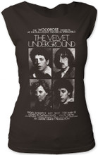 The Velvet Underground Paramount Theatre in Springfield Concert Performance Promotional Poster Artwork Women's Vintage Black Sleeveless T-shirt