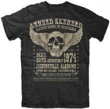 Lynyrd Skynyrd March 20, 1974 Jacksonville Alabama Concert Promotional Poster Artwork Men's Black T-shirt