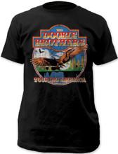 The Doobie Brothers Touring America Men's Black Vintage Concert T-shirt