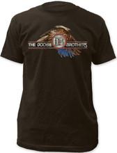 The Doobie Brothers Bald Eagle Logo Men's Black Vintage T-shirt