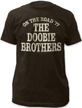 The Doobie Brothers On the Road '77 Men's Black Vintage Concert T-shirt