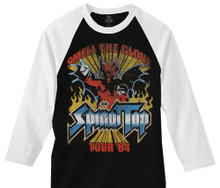 Spinal Tap Smell the Glove Tour '84 Black with White Sleeves Vintage Concert Baseball Jersey
