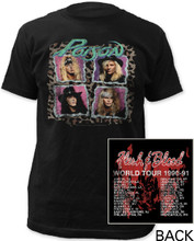 Poion Rock Band Flesh & Blood 1990-91 World Tour Men's Black Vintage T-shirt